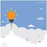 Bombilla creativa, concepto del líder ilustración del vector