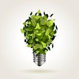 Bombilla de hojas verdes Fotos de archivo