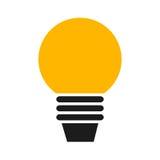 Bombilla del icono plano Imagen de archivo libre de regalías