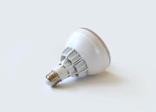 Bombilla del LED en el fondo blanco Fotografía de archivo libre de regalías