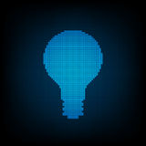 Bombilla digital de la tecnología del vector Imagenes de archivo