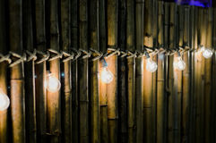 Bombilla en bambú fotografía de archivo libre de regalías