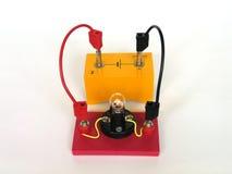 Bombilla en circuito eléctrico Foto de archivo