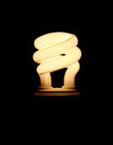 Bombilla fluorescente compacta fotos de archivo
