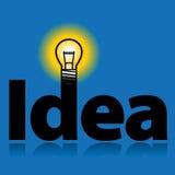 Bombilla - idea Foto de archivo libre de regalías