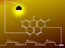 Bombilla molecular creativa imagen de archivo libre de regalías