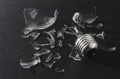 Bombilla quebrada Fotografía de archivo libre de regalías