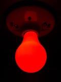 Bombilla roja Foto de archivo libre de regalías