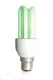 Bombilla verde del ahorrador de energía imágenes de archivo libres de regalías