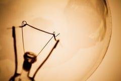 Bombilla y filamento Imagen de archivo libre de regalías