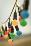 Bombillas coloreadas imagen de archivo