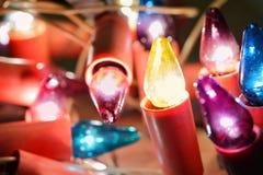 Bombillas de la Navidad Foto de archivo libre de regalías