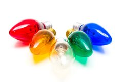 Bombillas de la vela colorida Foto de archivo