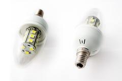 Bombillas dos del LED Imagen de archivo libre de regalías
