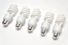 Bombillas fluorescentes compactas Fotografía de archivo