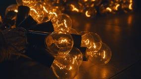 Bombillas industriales Iluminación retra en estilo del desván Decoración de la iluminación Imagen de archivo libre de regalías