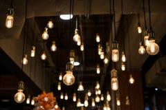 bombillas interiores Fotografía de archivo libre de regalías