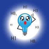 Bombillas que iluminan el azul Fotografía de archivo libre de regalías