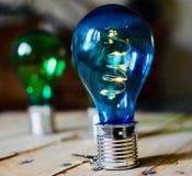 Bombillas solares coloridas fotografía de archivo libre de regalías