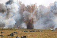 Bombimg和战争 库存照片