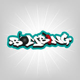 Bombing text graffiti. Royalty Free Stock Images