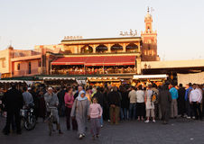 bombningcafe marrakesh Arkivfoto