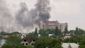 Bombningen av staden lager videofilmer
