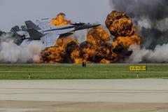 Bombningkörning Arkivbilder