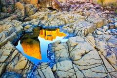 Bombo łup, Kiama, Nowe południowe walie, Australia Zdjęcia Stock