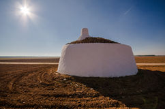 Bombo - Traditional shelter made by field workers in Tomelloso stock images