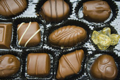 Bombom do chocolate Imagens de Stock Royalty Free