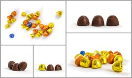 Bombon collage Royalty Free Stock Image