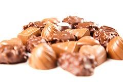 Bombon del cioccolato zuccherato Immagini Stock Libere da Diritti