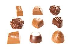 Bombon del cioccolato zuccherato Fotografia Stock