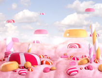 Bombons da terra dos doces Foto de Stock