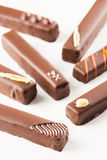 Bombons longos dos chocolates Fotografia de Stock