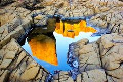 Bombosteengroeve, Kiama, Nieuw Zuid-Wales, Australië Royalty-vrije Stock Foto's