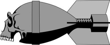 bombowa czaszka Royalty Ilustracja