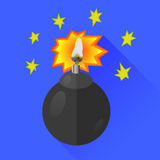 Bombowa ikona Obraz Stock