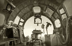 bombowiec kokpit stary Fotografia Stock