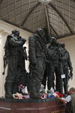 Bombowiec Nakazowy pomnik, zieleń park Obraz Stock