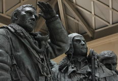Bombowiec Nakazowy pomnik, zieleń park, Londyn Fotografia Royalty Free