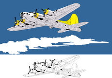 Bombplan Arkivfoton
