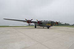 Bombplan B24 Arkivfoton