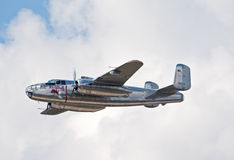 Bombplan för B-25 Mitchell Royaltyfri Bild