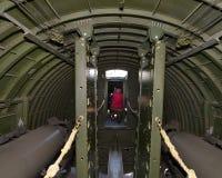 Bombplan för B-17G WW II som flög i Europa arkivbild