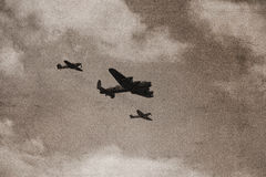 bombplan lancaster Arkivfoton