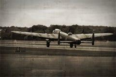 bombplan lancaster Royaltyfri Fotografi