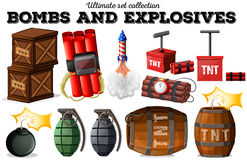 Bombs and explosive objects Stock Photos