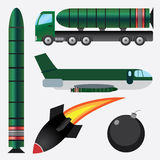 Bombs and missiles. Stock Photo